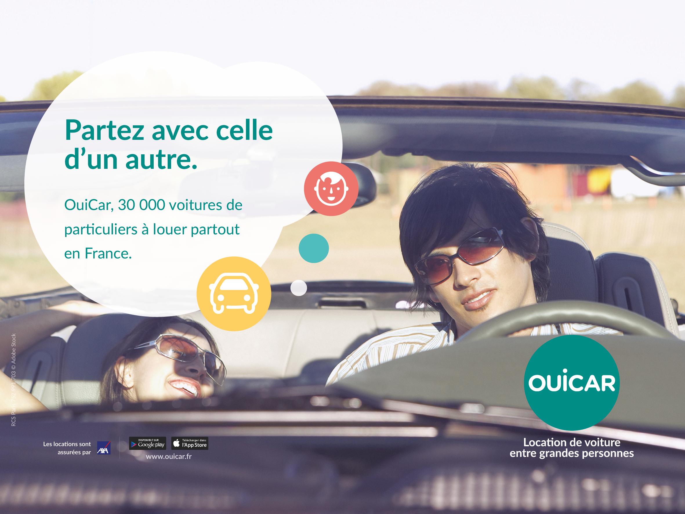Ouicar d voile sa nouvelle campagne de publicit for Garage automobile a louer ile de france