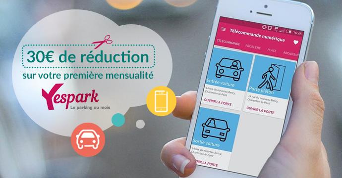 Yespark l appli qui vous trouve une place de parking en un clin d il - Place de parking location ...